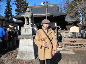 松代象山神社にて